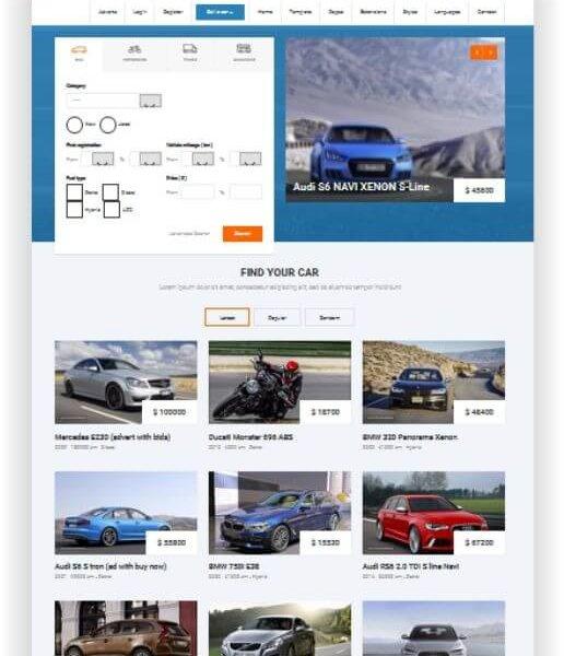 Joomla Auto Kleinanzeigen Template