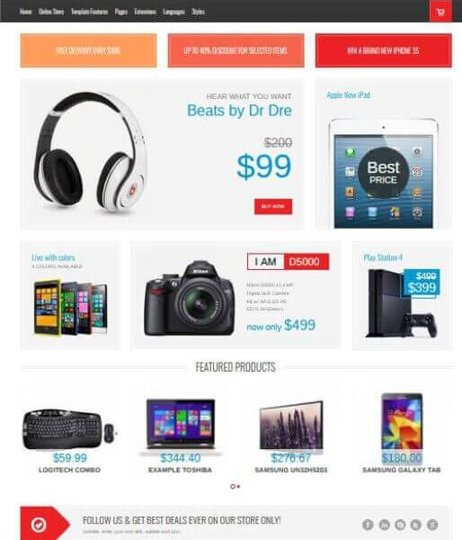 Electronic Onlineshop mit Joomla