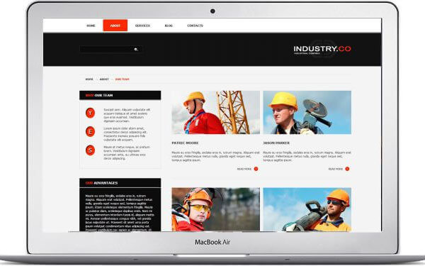 Joomla Industry Template