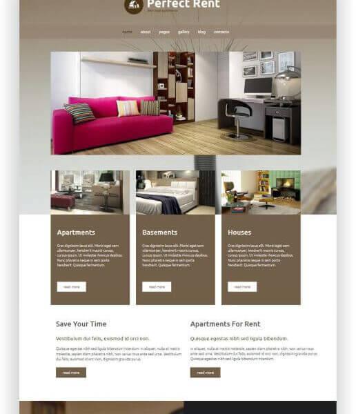 Joomla Immobilien Vermietung Template