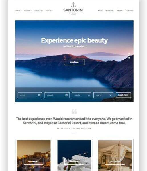Wordpress Hotel Thema