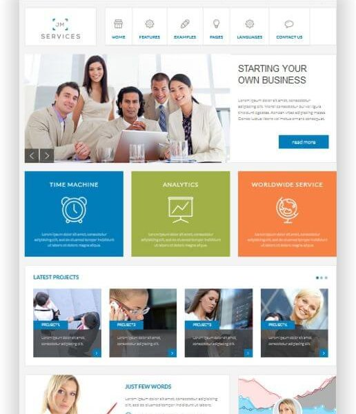 Joomla Gratis Business Template