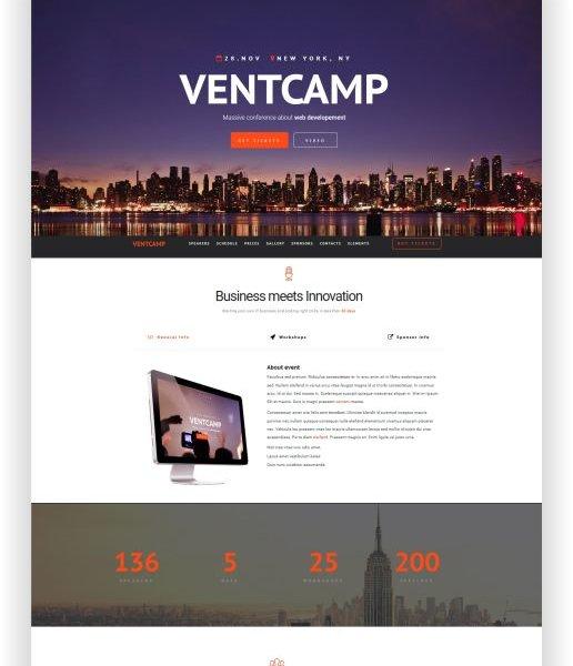 HTML Event und Konferenz Theme