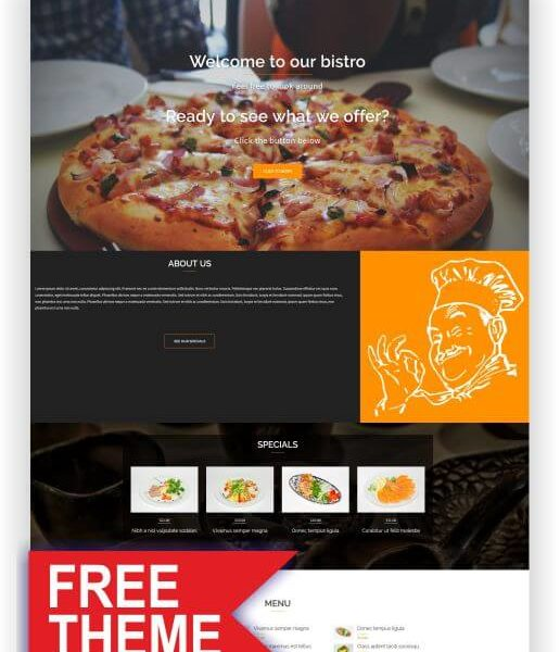 WordPress Gratis Restaurant Thema