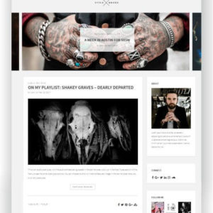 Modernes WordPress Blog Thema