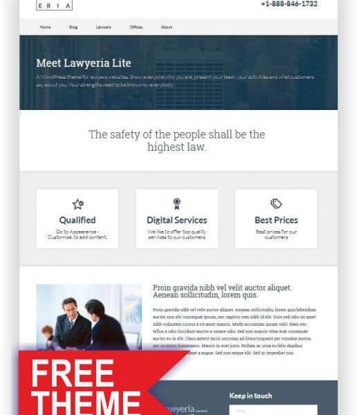 WordPress GRATIS Rechtsanwalt Theme