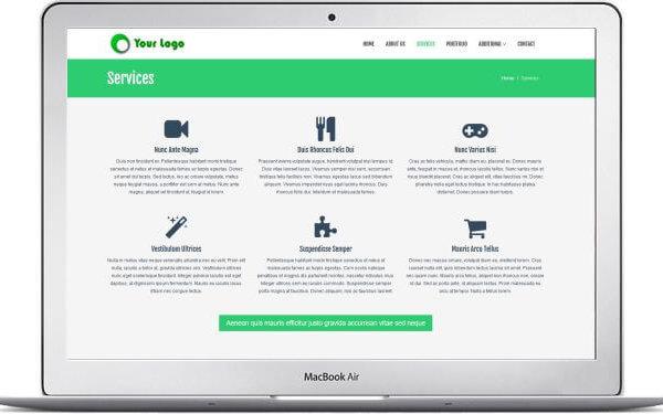 HTML5 Gratis Firmenwebseite