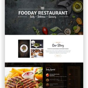 HTML5 Restaurant Thema Fooday