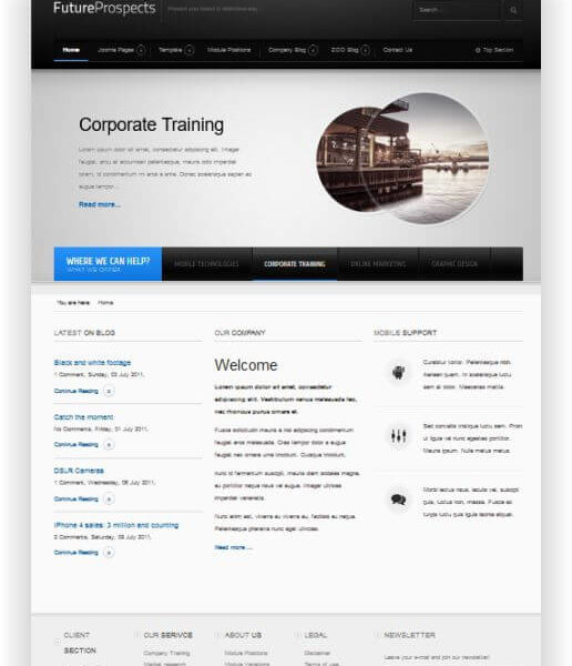 Joomla Landing Page Template - Business, Blog und Promotion!