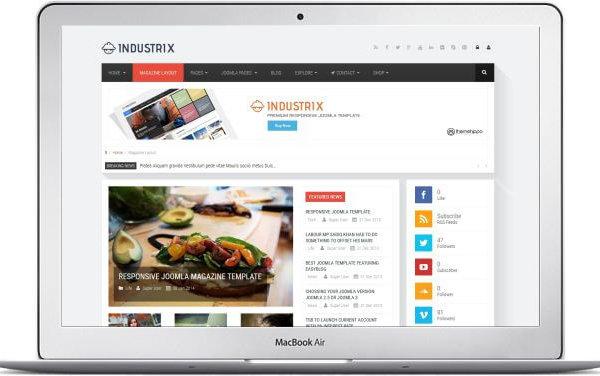 Joomla Industrie Template