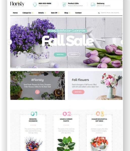 Magento 2 Blumen Online Store