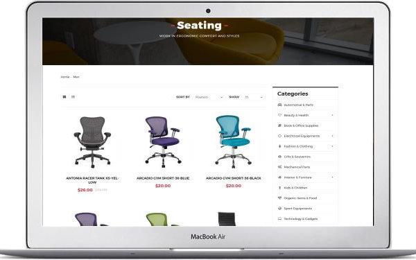 Magento 2 Büromöbel Shop