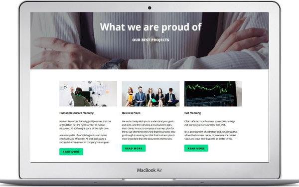 MotoCMS Business Webseite