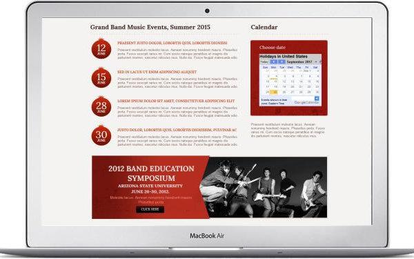 Webseite für Musikkapelle