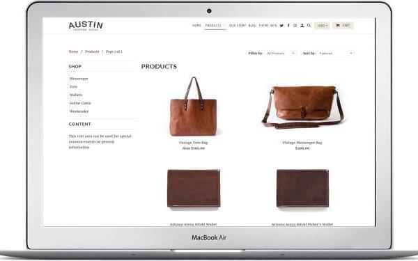 Shopify Retina Theme