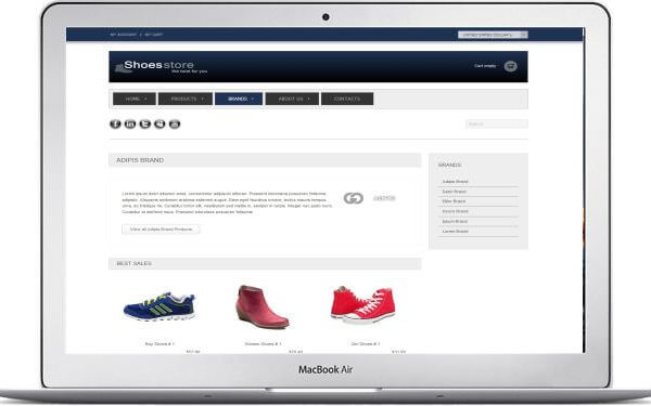 VirtueMart Schuhshop Thema