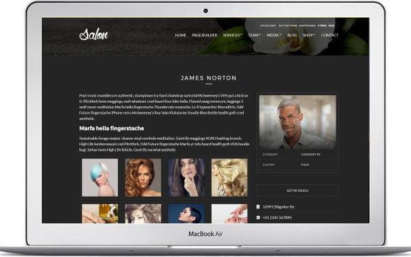 WordPress für Kosmetiksalon