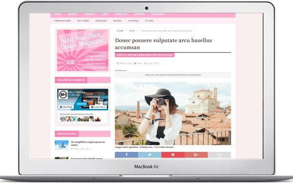 WordPress Frauenmagazin