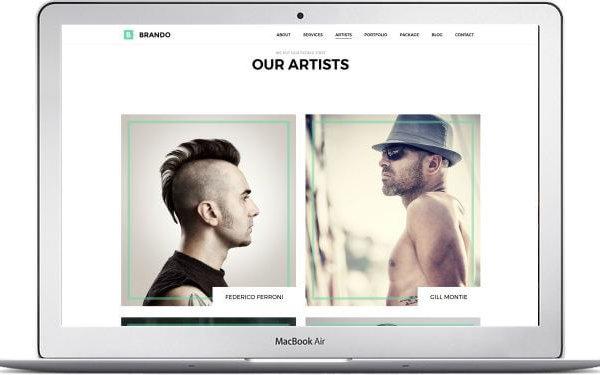 WordPress Portfolio Thema Brando