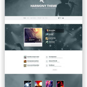 WordPress Musik Thema
