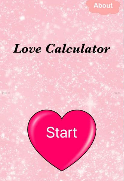 iOS Love Calculator App Theme