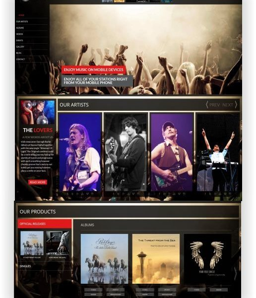 WordPress Musik Template