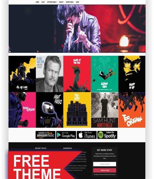 WordPress Gratis Musik Thema