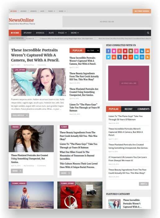 Wordpress nachrichten magazin thema thema hier ansehen for Nachrichten magazin