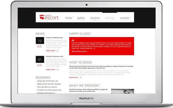 HTML5 Escort Service Webseite