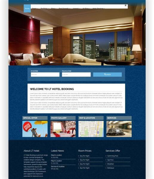Joomla Hotelbuchungs Webseite