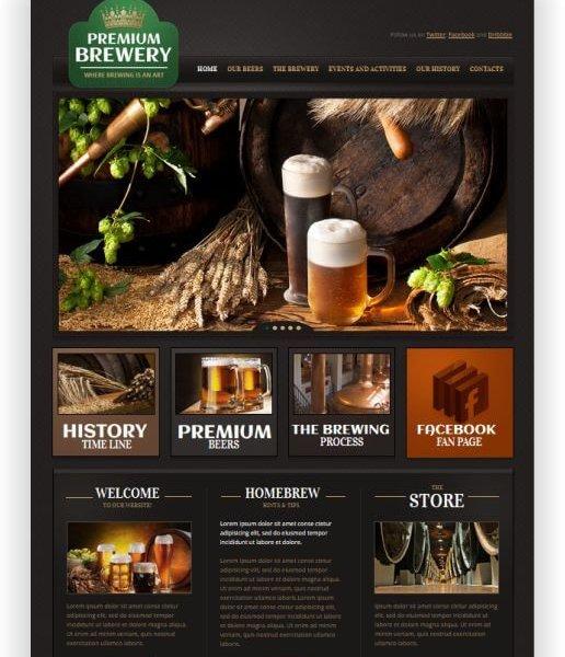 Brauerei Webseite