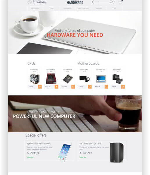 PrestaShop Computer Zubehör Shop Thema