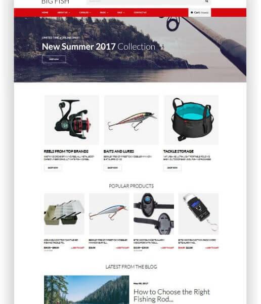 Fischerei Shop Thema