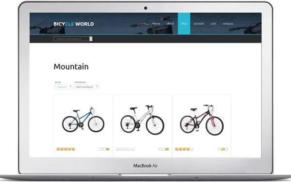 VirtueMart Fahrrad Shop Thema