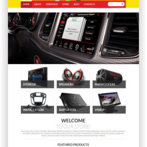 WooCommerce CarAudio Shop