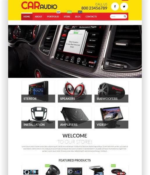 WooCommerce CarAudio Shop