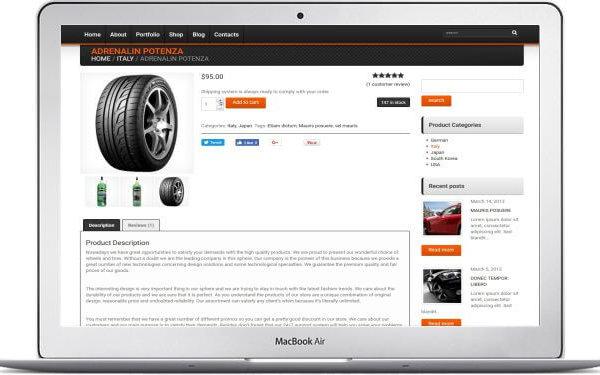 WooCommerce Felgen und Reifen Store