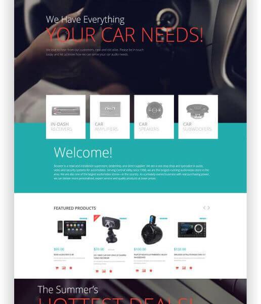 WooCommerce CarAudio Thema