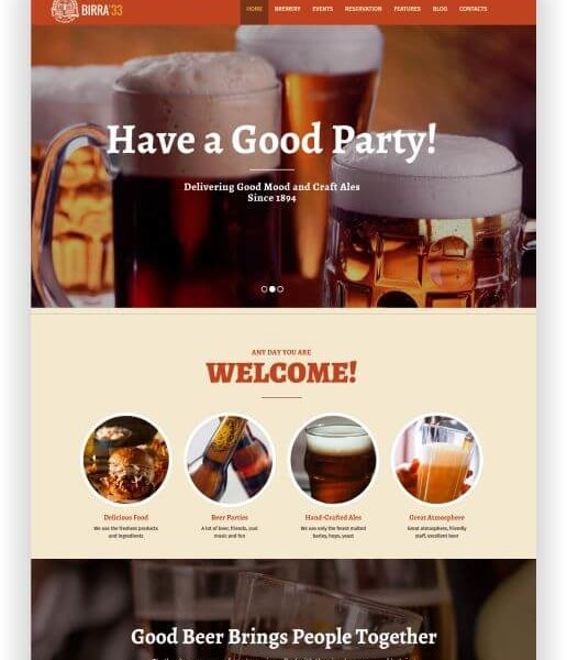 WordPress Bier Thema