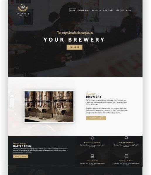 WordPress Craft Beer Template