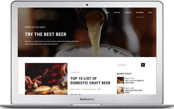 WordPress Craft Beer Thema