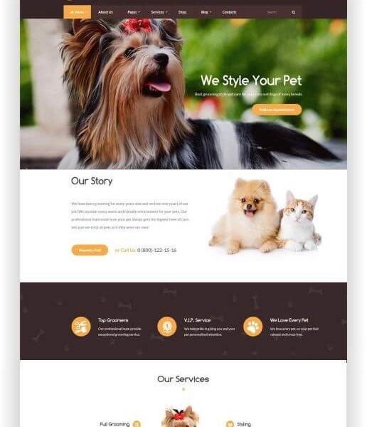 WordPress Tierpflegesalon Thema