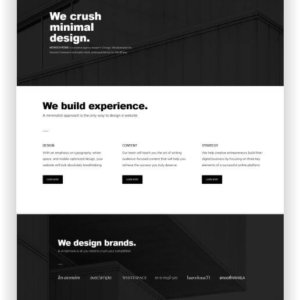 WordPress Monochrome Website