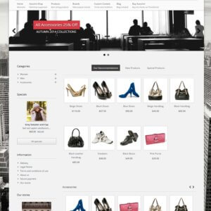 PrestaShop responsives Thema mit Blog