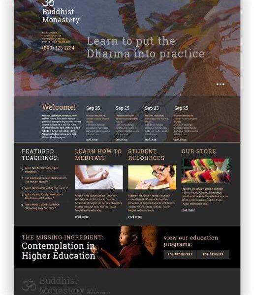 Joomla Buddhistische Webseite