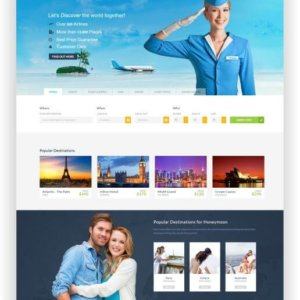 HTML5 Reisebuchungs Template