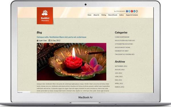 Joomla Buddismus Webseite