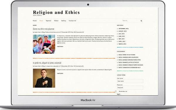 Joomla religiöses Blog Template