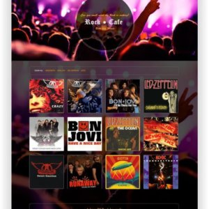 Joomla Rock Cafe Template