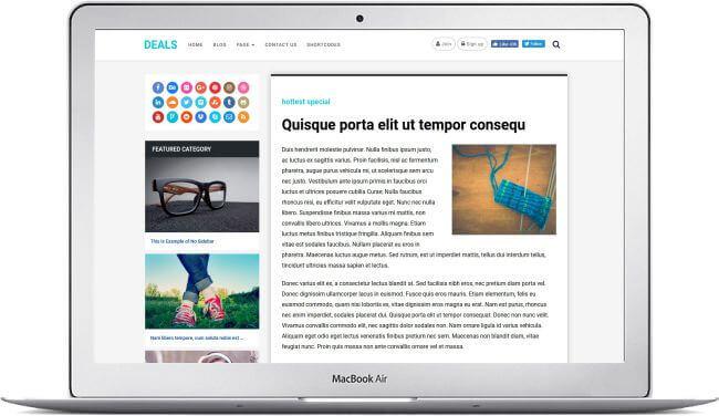 Wordpress Angebote Magazin Thema Machen Sie Geld Mit Angeboten